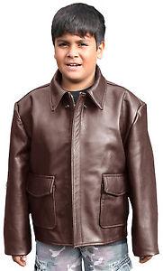 Kids Indiana Jones Style Leather Bomber Jacket (K-INDY) | eBay