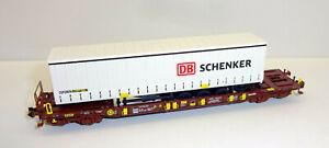 """Fleischmann N 931891-3 Taschenwagen T3 SCHENKER """"Bauart Sdgms 33"""" der AAE - NEU"""