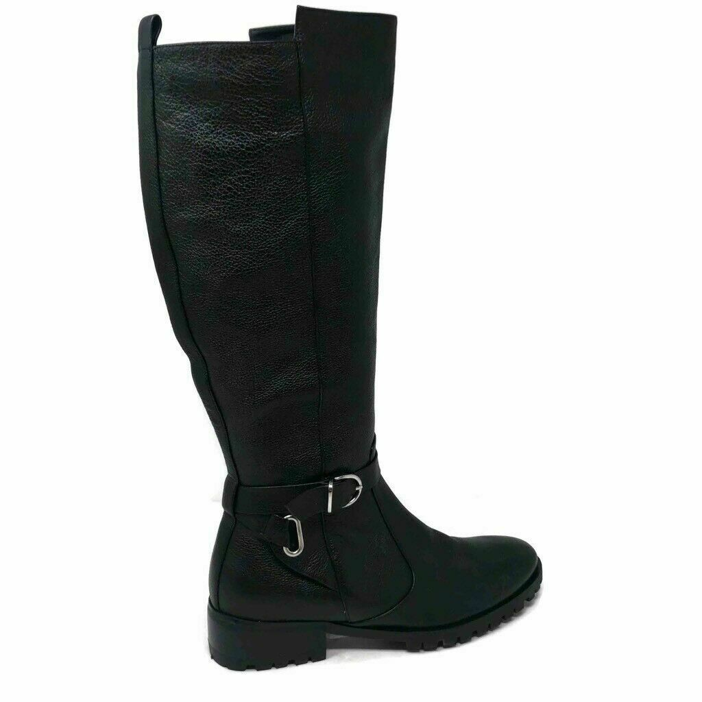 Tesori Riding Boots Size 6.5 M Valancia Black Leather
