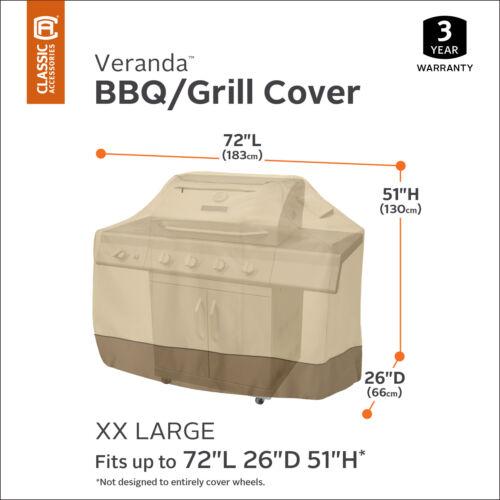 Classic Accessories Veranda Water-Resistant Barbecue Grill Cover