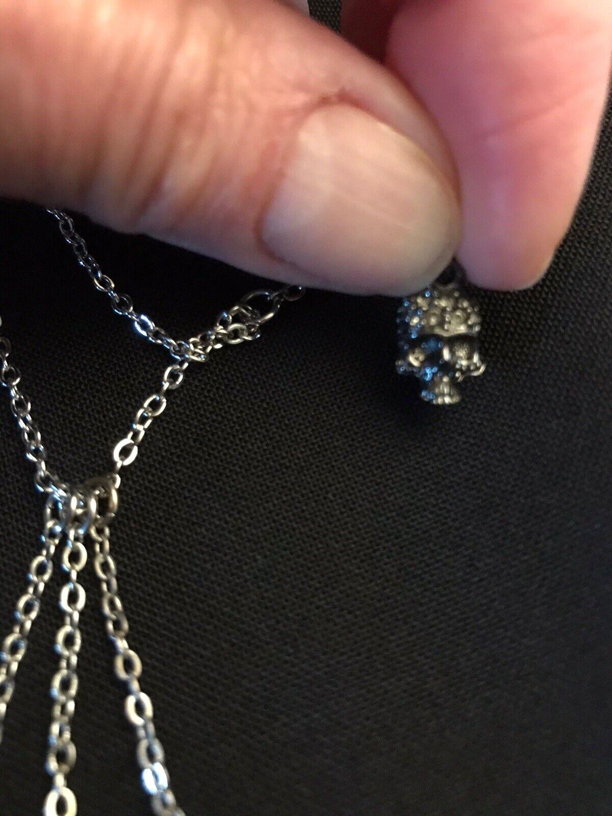 Vivienne Westwood Necklace Skull, Orb & More. Sil… - image 3