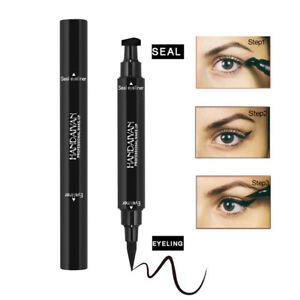 Fluessigkeit-Eyeliner-Pen-with-Stamp-Seal-Schwarz-Wasserdicht-Auge-Kosmetik