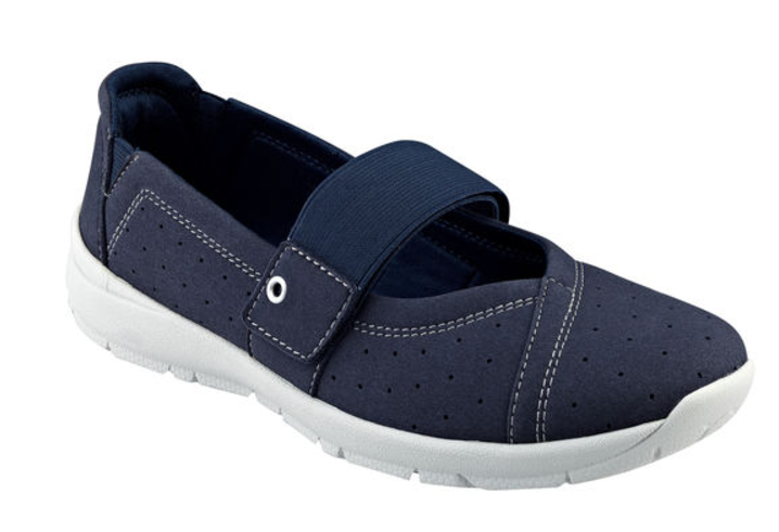 Easy Spirit Gilaria wedge flats mary janes navy Blau sz 8.5 Med NEW