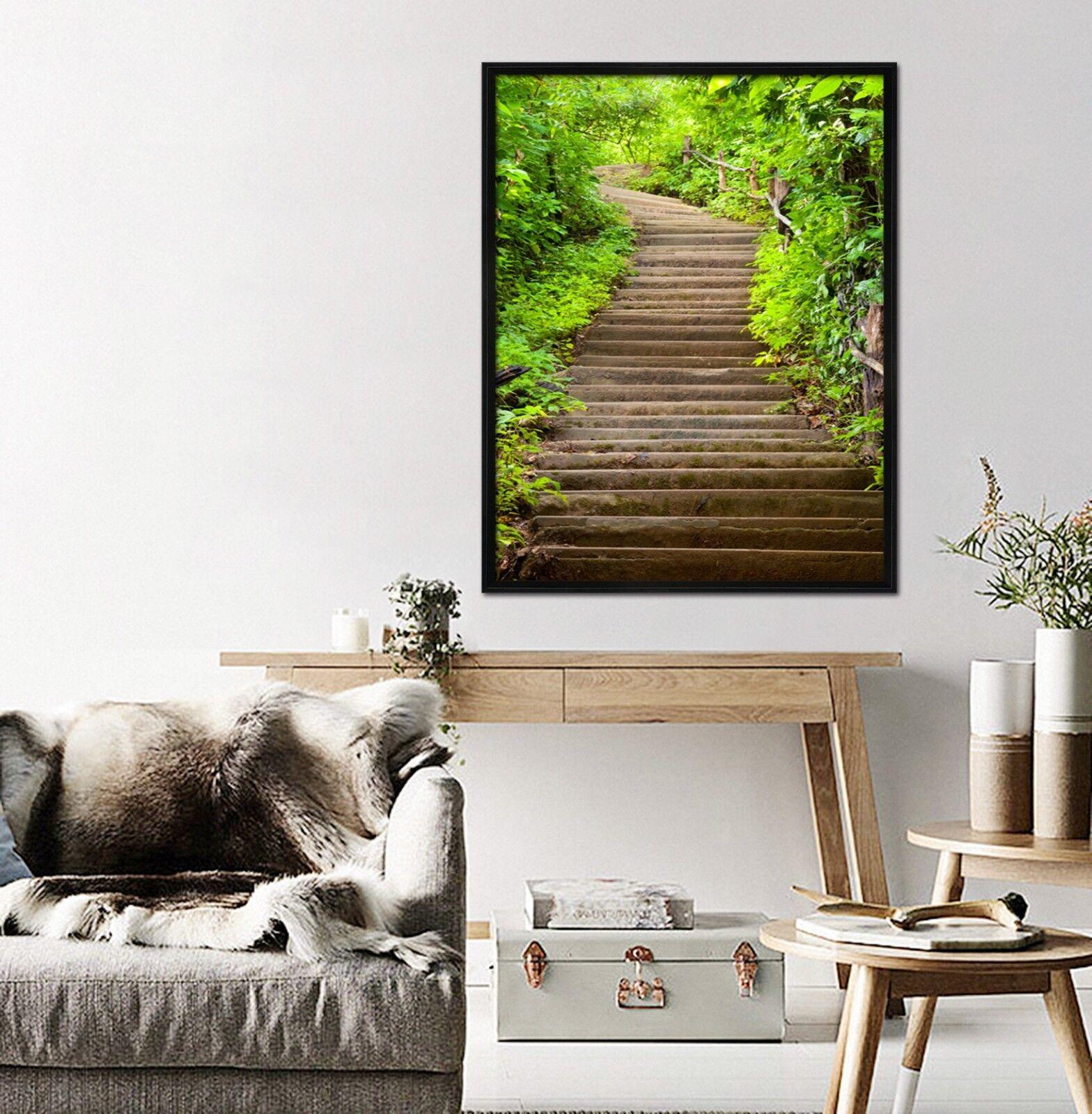 3D Woods Path 421 Framed Poster Home Decor Print Painting Art AJ AU