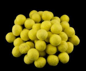 50-Cuentas-Bolos-De-Rotulador-Fieltro-Natural-2-1-CM-Nepal-Amarillo-Limon