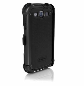 Ballistic-MAXX-Case-w-Holster-Samsung-Galaxy-S3-SIII-Screen-Protector-Black