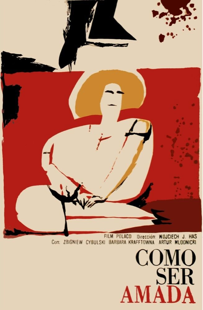 8321.Como see amada.polish film.woman sitting.POSTER.movie decor graphic art