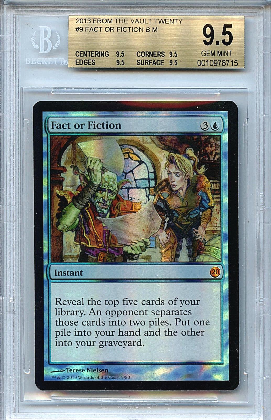 Mtg fact or fiction bgs 9,5 ftv zwanzig magie mystische folie wahr - amricons 8715