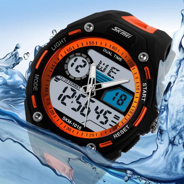 Fashion Men's Waterproof Digital Alarm Date Sport Analog Watch LED Backlight