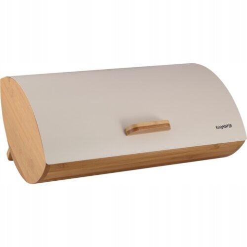Acier Inoxydable Huche Pain brotkiste Bambou Box 35x25x15,5cm Eco Cream
