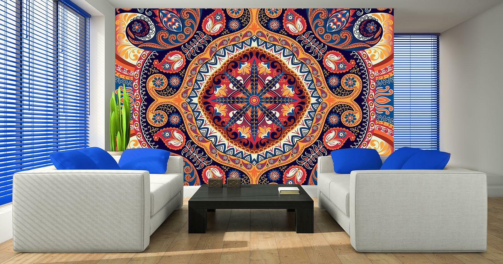 Photo Wallpaper Mural Non-woven 10142_VEN Folk Pattern Abstract art Abstraction