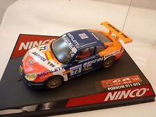 """NINCO 50240 PORSCHE 911 GT3 R """"REPSOL""""  1/32 SLOT CAR  1/EA"""