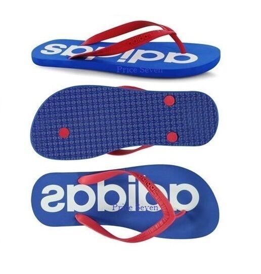 dcab69c1264a adidas Neo Flip Flops Blue Size UK 9 EU 43 Re076 Aa03