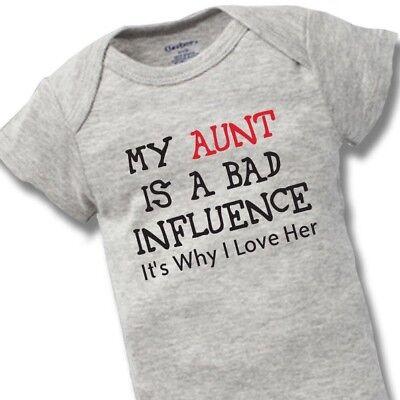 My Aunt Loves Me So Much Funny Baby Girl Boy Shower Gift Onesie Newborn Bodysuit
