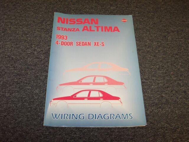 1993 Nissan Altima Stanza Sedan Electrical Wiring Diagram