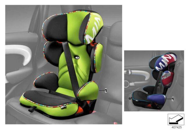8db5abd404d MINI Genuine Junior Infant Car Child Seat Group 2 3 Vivid Green 82222449302