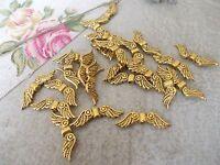 ANGEL WINGS, SILVER OR GOLD TIBETAN METAL CHARMS/PENDANTS/BEADS, CHRISTMAS