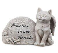 Cat Angel Wings Pet Memorial Outdoor Indoor Statue Plaque Garden Yard Lawn Decor