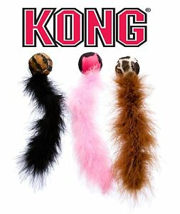 Kong Cat Wild Tails Toy for Cats & Kittens - Play Pounce Chase, Assorted Colours