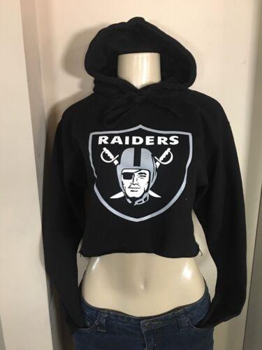 Women CROP Hoodie Classic Raiders Logo RAIDER NATION LAS VEGAS OAKLAND