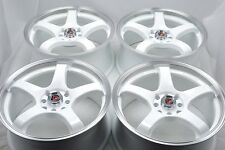 15 Drift white Wheels Rims Forenza Cooper Insight Cobalt Aveo Reno 4x100 4x114.3