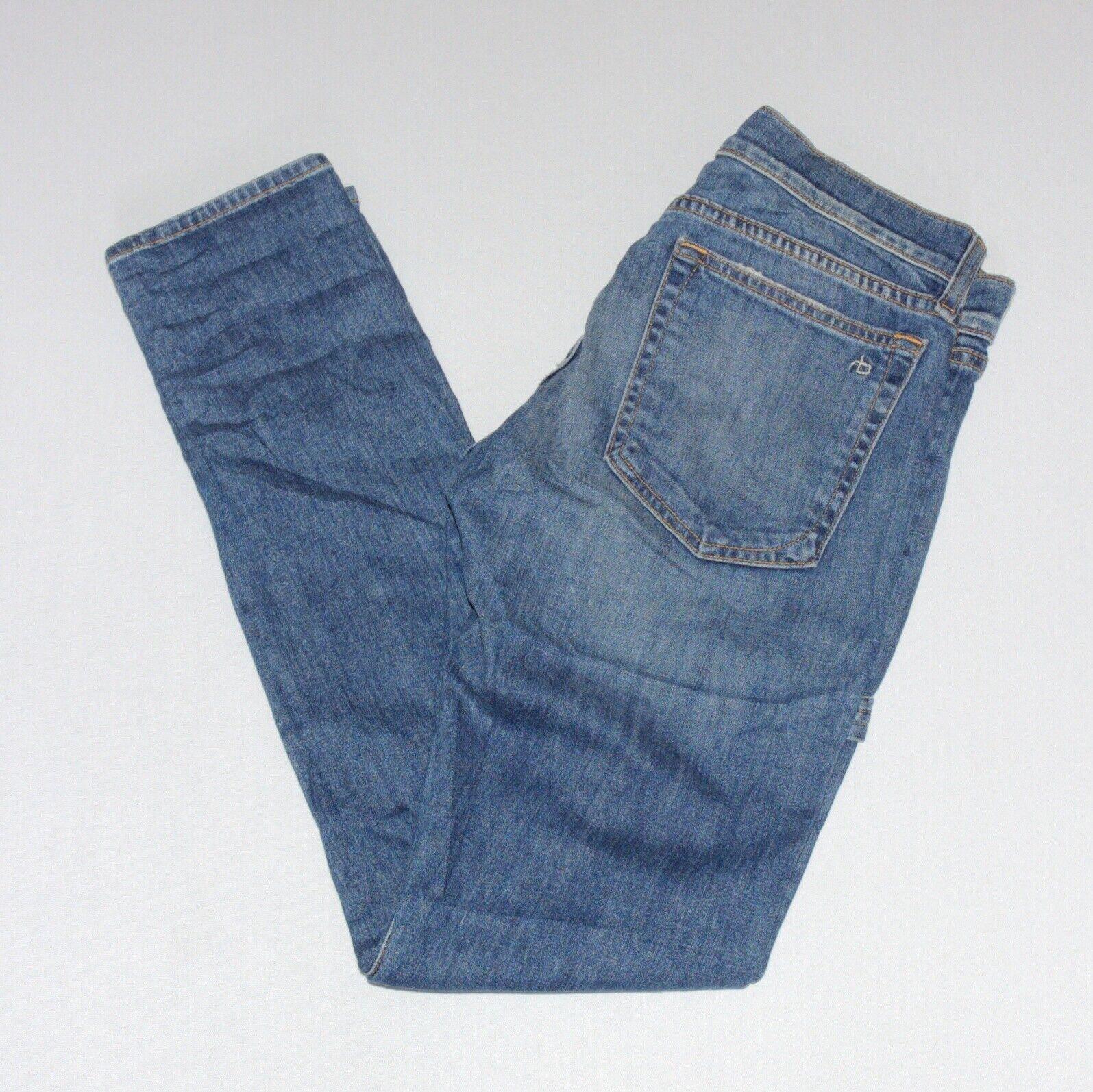 Rag & Bone Dre Carpenter Delancy Size 25 Medium Wash Distressed Jeans