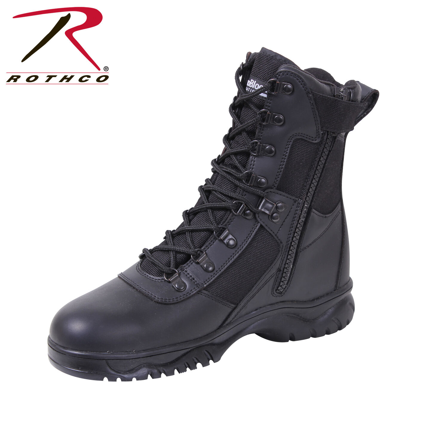 Rothco 5073 Insulated 8 Inch Side Zip Tactical Boot - Black