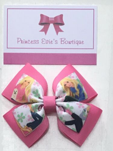 Handmade Barbie Hot Pink Hair Bow