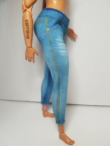 BARBIE BLUE WASHED PANTS BOTTOM~ MATTEL FASHIONISTAS FASHION CLOTHES CURVY Q3
