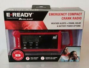 Midland E+Ready Emergency Compact Crank Weather Radio ER210 NEW IN-BOX
