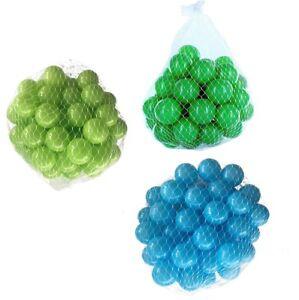 150-9000 Ball Pit Balls 55mm Mix Turquoise Vert Clair Vert Mélangé Couleurs Bébé Enfant