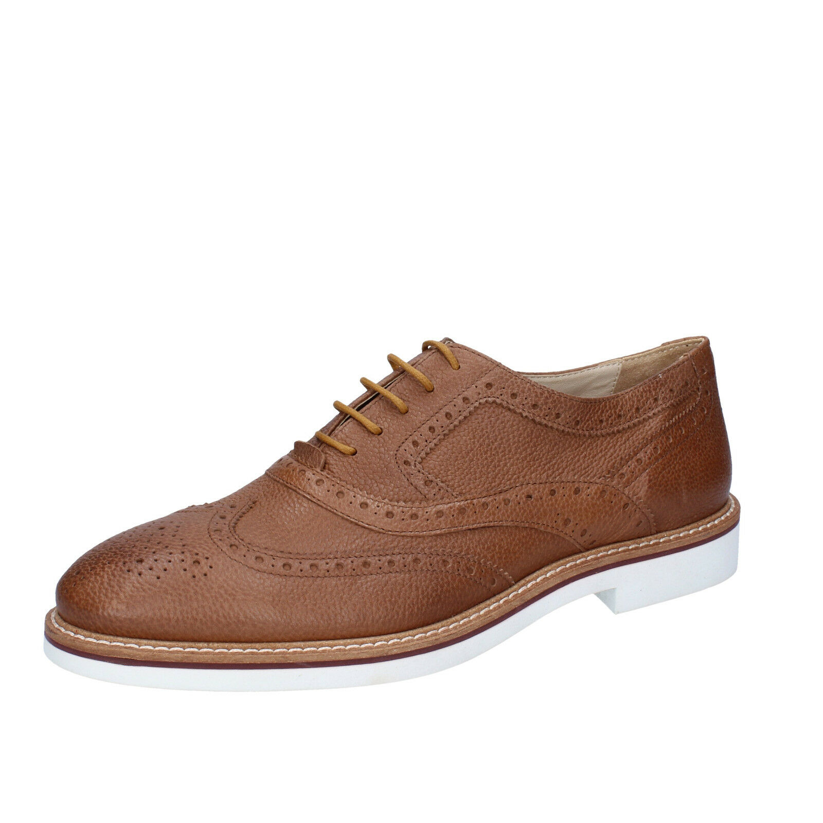 Men's zapatos K852 & SON 12 (EU 45) elegant marrón leather BT924-45