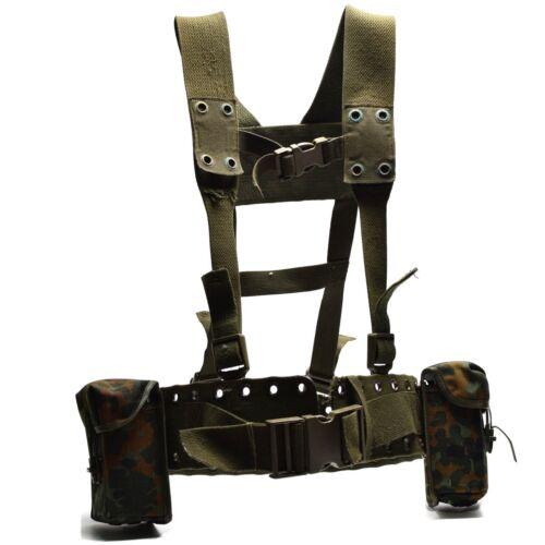 Original German army Webbing system 4 pcs tactical belt harness Load bearing kit