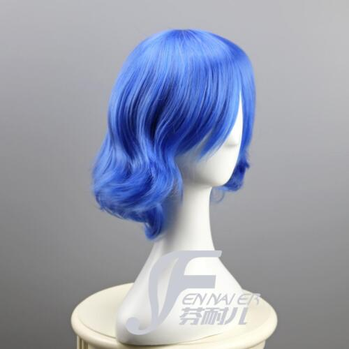 Mizuno Ami Pretty soldier Sailor Moon Cosplay Perücke wig Perruque Blau Kurz