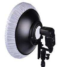 "16"" Flash Beauty Dish Reflector Hot Shoe Mount For Canon Nikon Yongnuo Speedlite"