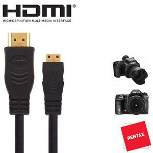 Pentax-645D-K-5II-K-5IIs-GXR-DSLR-Camera-HDMI-Mini-TV-Monitor-2-5m-Cable
