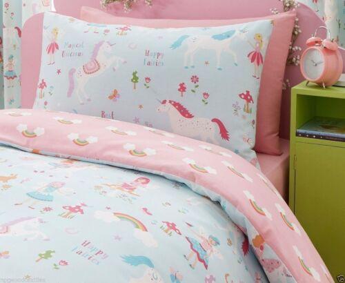 Magical Unicorns Bedding Duvet Cover Set Reversible Multi Matching Accessories