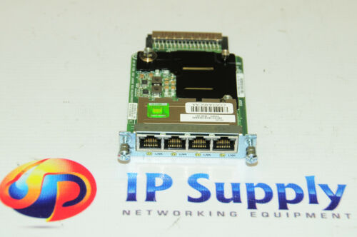 Cisco EHWIC4ESG 4Port Gigabit Ethernet Switch Interface Card 6MthWtyTaxInv