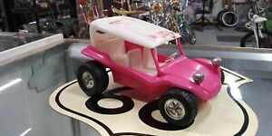 VINTAGE-PINK-MEYERS-MANX-VW-DUNE-BUGGY-PLASTIC-GAY-TOY-CAR-USA