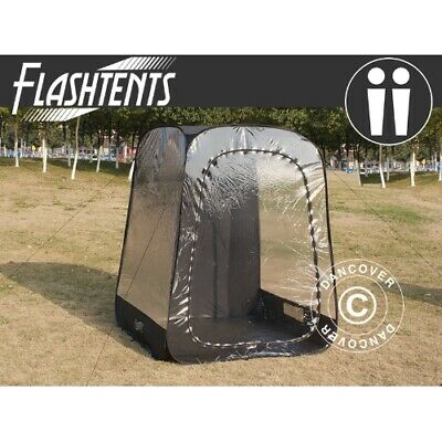 All Weather PodFootball Mom pop up tent, FlashTents®, 2 persons, Black | eBay