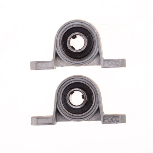 2Pcs 10mm Diameter Bore Ball Bearing Pillow Block Mounted Support KP000  JKCA