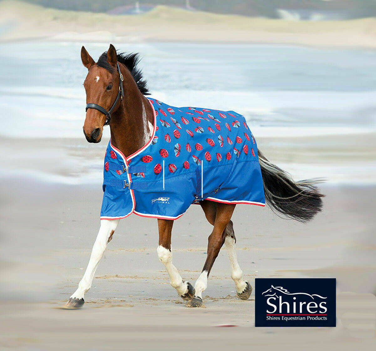 Shires tempest lite ladybird print  turnout horse rug all sizes  on sale 70% off