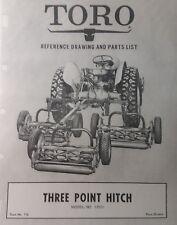 Toro 3 Point Hitch 2n 9n 8n Ford To30 Ferguson Farm Tractor Assy Amp Parts Manual