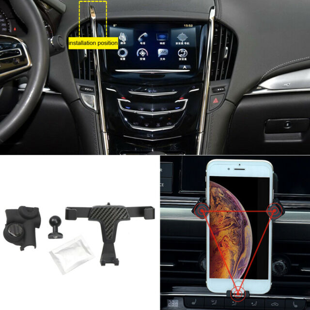 Carbon Fiber Black Car Mount Cradle Phone Holder For