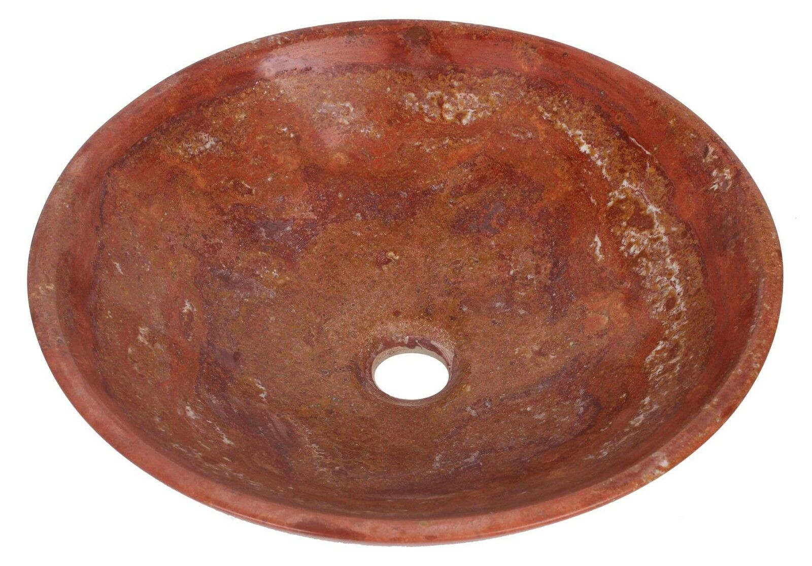 Travertin marbre rond bol salle de bains de lavabo diamètre 300mm B0065