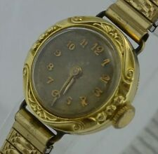 antike Damenuhr / Handaufzug / 585er 14 Karat Gelbgold