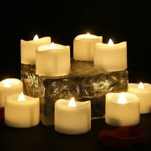 Lot Flameless Votive Candles Flickering LED Tea Light Tealight Wedding Christmas