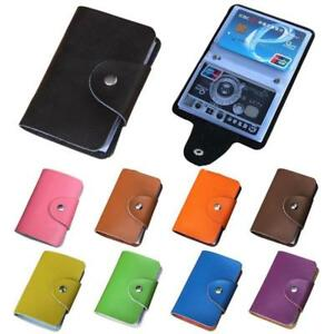 New-24-Cards-PU-Leather-Credit-ID-Business-Card-Case-Holder-Pocket-Wallet-FD