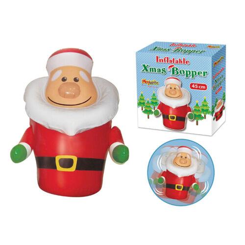 Inflatable Christmas Santa Bopper 45cm Tall wobbling Father Christmas