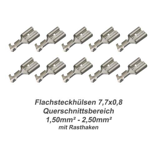 LKW Querschnitt 1,50mm²-2,50mm² KFZ 10x Flachsteckhülse 7,7x0,8